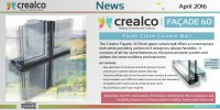 Product Launch:  The new Crealco Facade 60 Flush Glaze Curtain Wall