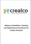 Crealco Installation, Cleaning & Maintenance Guidelines Updated
